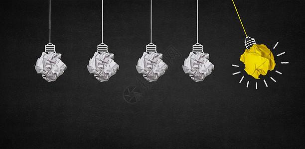 创意灯泡背景图片