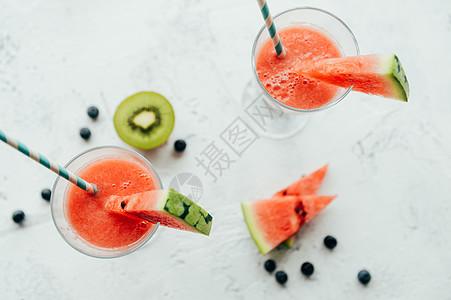 夏日凉爽西瓜汁饮品图片