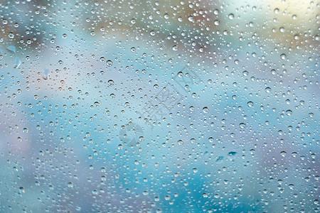 玻璃雨水滴背景图片