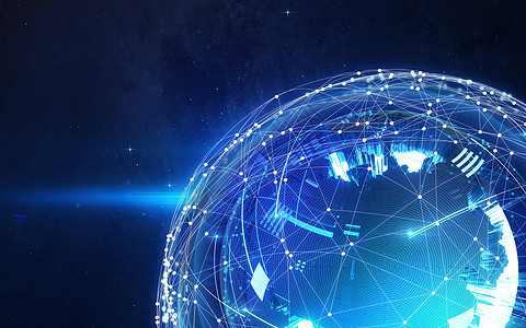 网络的地球图片