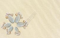 沙滩脚印图片