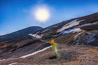 雪山徒步攀登图片