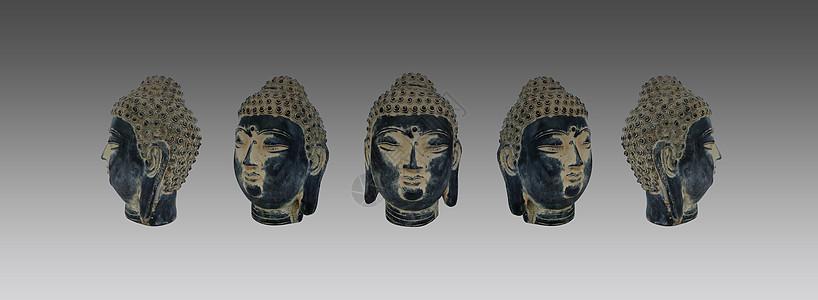 佛教雕像佛头图片