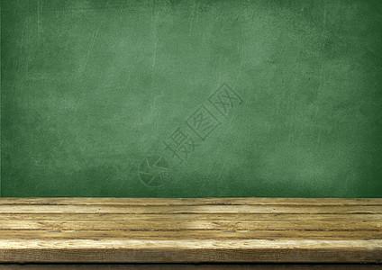 怀旧的黑板和桌子图片