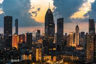 武汉城市高楼风光图片