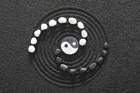 创意石头八卦摆件图片