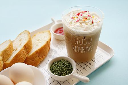 夏季清爽提神早餐图片