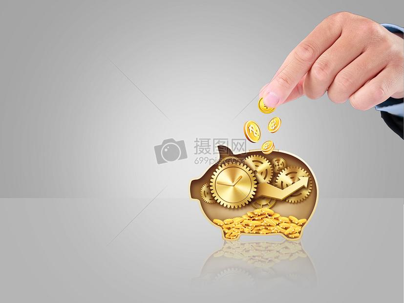 金币小猪储蓄罐图片