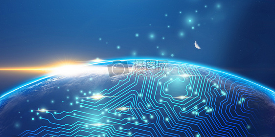 制高点地球全球化科技图片