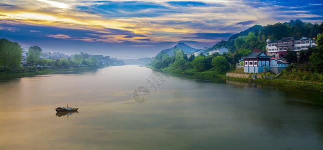 梦幻美丽的新安江图片
