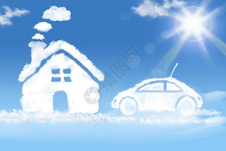 白雪/云朵房子车子图片