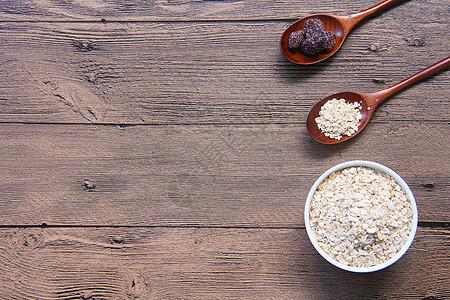美味麦片木纹背景素材图片