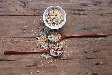 红豆薏米美食背景素材图片