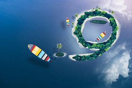 海滩帆船图片