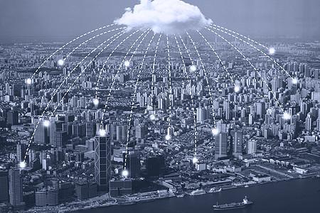 传播信号的云图片