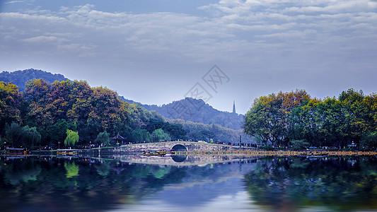 北山街西泠桥秋色图片