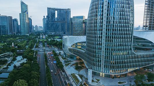 繁华的新城全景图片
