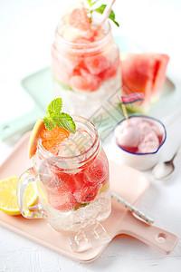 夏日冰爽饮料外景图片
