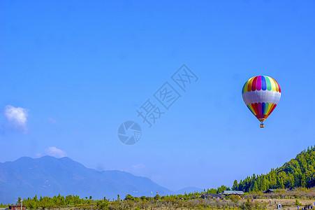 火山热气球图片