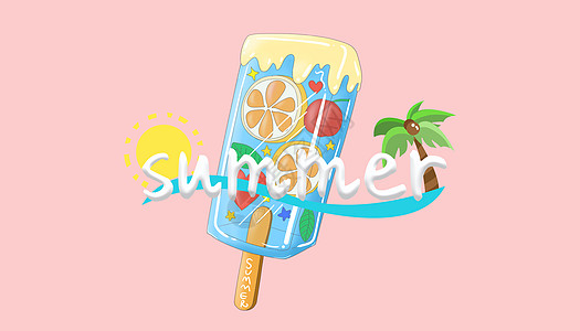 炎热夏天冰激凌甜点图片