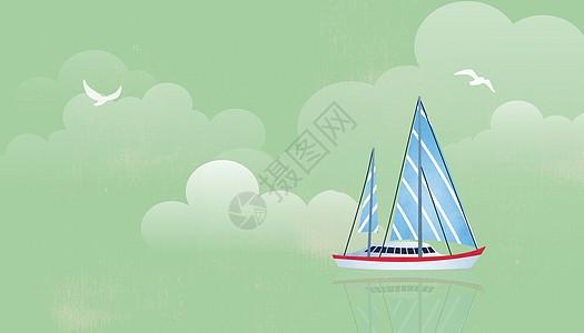 帆船出游图片
