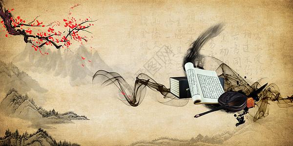 中国风古典文化背景图片
