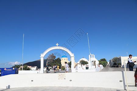 美丽的圣托里尼岛图片