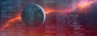 星空编程背景素材图片