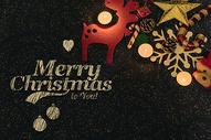 金色的圣诞节图片