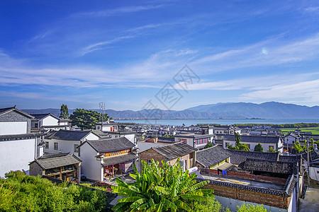 大理白族洱海渔村图片