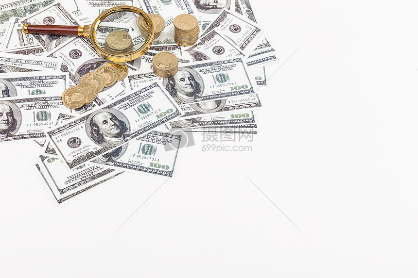 商业金融美元外汇素材留白图片
