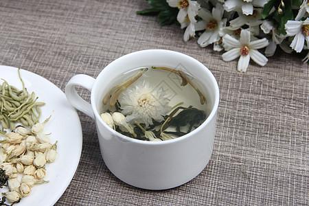 菊花泡茶摄影图片图片