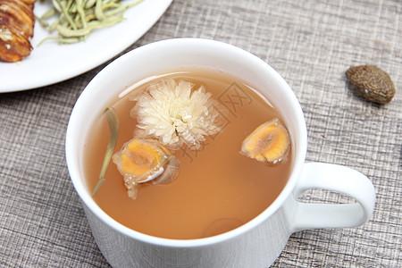 一杯罗汉果茶摄影图片图片