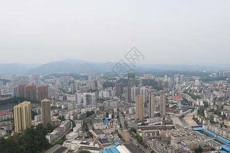 十堰车城全景摄影图图片
