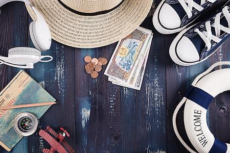 夏日旅游飞行计划准备图片