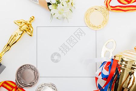 奖杯奖牌创意组合图片