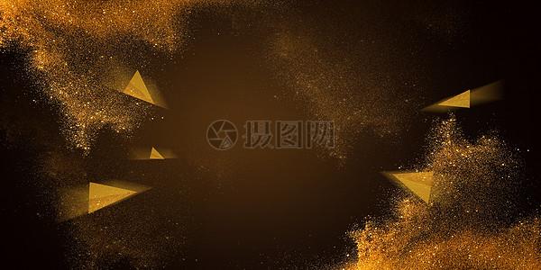 大气金色banner背景图片