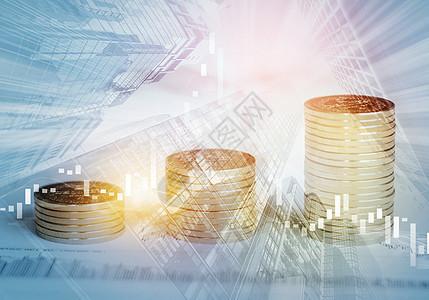 理财投资收益概念图图片