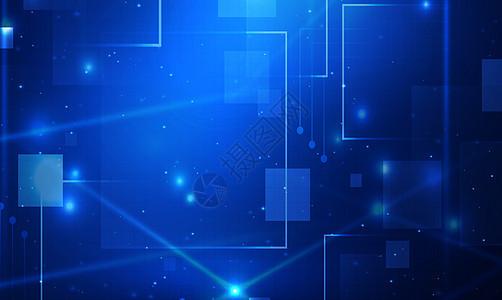 蓝色科技空间版块背景图片