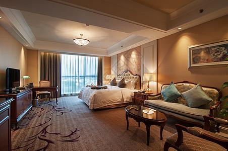 豪华的酒店房间图片