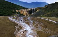 贡嘎雪山钙化小瀑布图片