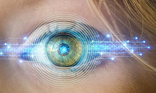 科技时代智能眼球瞳孔图片