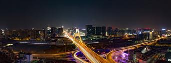 成都天府大道夜景图片