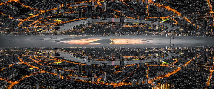 超现实航拍城市全景图片
