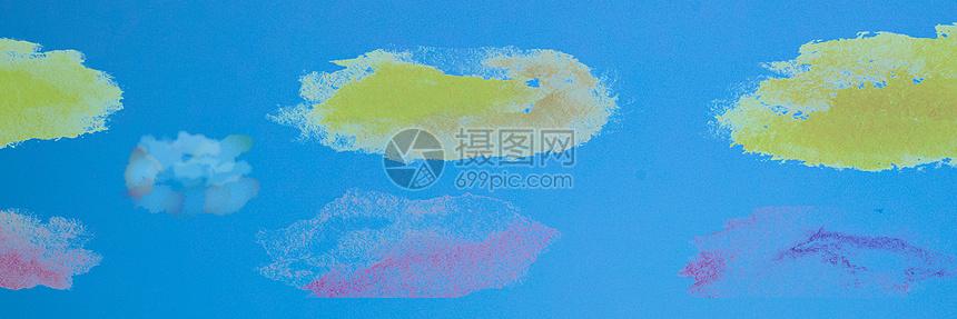 水彩banner背景图片