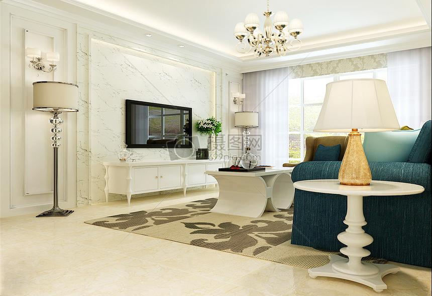 简约欧式客厅效果图图片