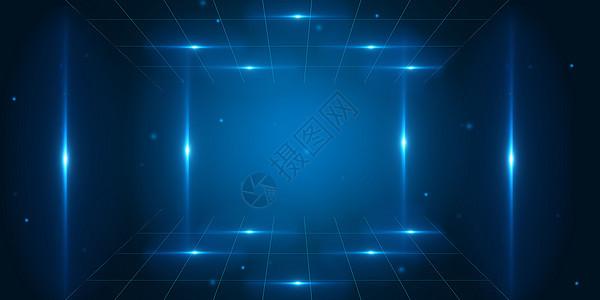 三维立体空间科技背景图片