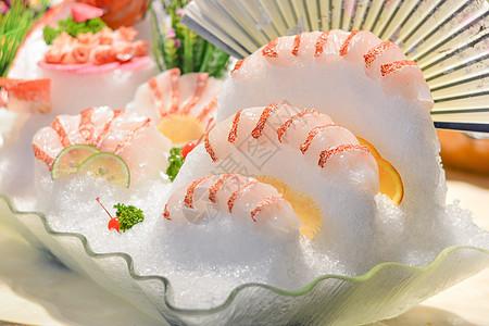 日本料理海鲜生鱼片图片