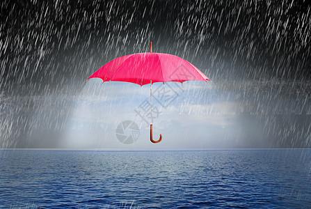 雨中的雨伞图片