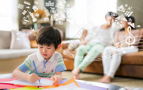 孩子迸发的创造思维图片